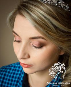 Людмила Широкова свадебная прическа и свадебный макияж